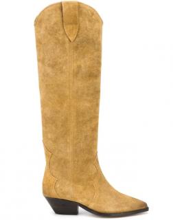 Isabel Marant Camel Suede Denvee Knee Boots