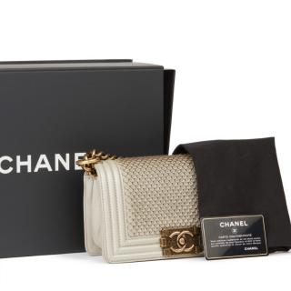 Chanel Pale Gold Scaled Small Boy Bag