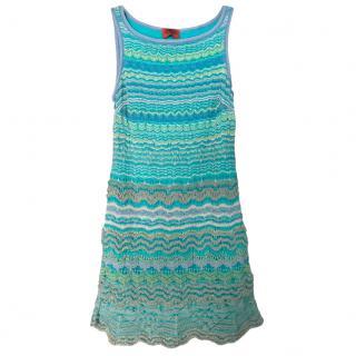 Missoni Turquoise Knit Sleeveless Dress