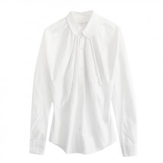 Junya Watanabe Cotton White Pleated Blouse