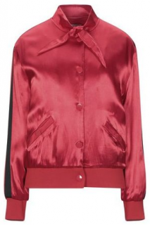 Zoe Karssen Scarf Collar Red Bomber Jacket