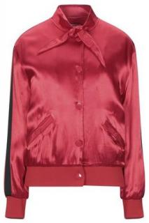 Zoe Karssen Scarf Collar Red Bomber Jacket