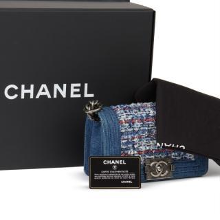 Chanel Denim & Tweed Small Boy Bag