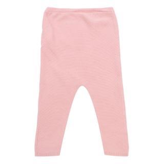 Bonpoint Light Pink Cotton Knit Pants