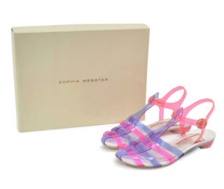 Sophia Webster Violetta Colorblock Translucent Jelly Sandals