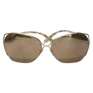 Victoria Beckham Aviator Mother of Pearl Style Arm Sunglasses
