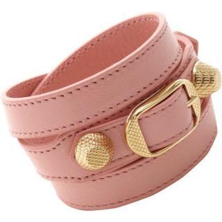 Balenciaga Pink Giant Arena Double Tour Bracelet