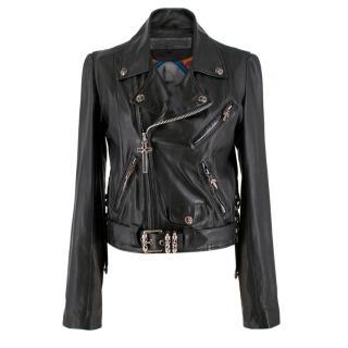 Chrome Hearts Leather Biker Jacket