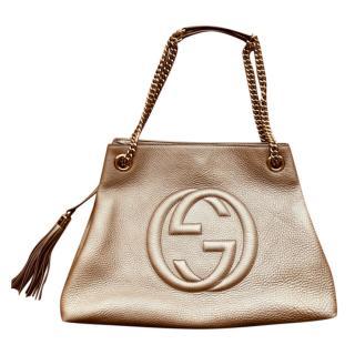 Gucci Metallic Soho Tote Bag