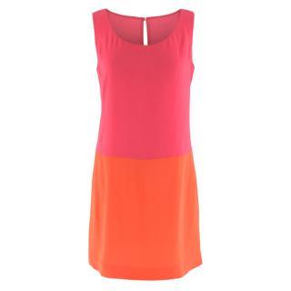 Prada Two Tone Pink and Orange Shift Dress