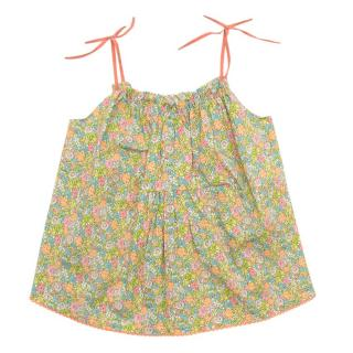 Caramel Baby Floral Print Pinafore Dress