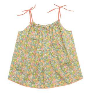 Caramel Baby Floral Print Pinafore Dress
