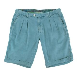 Marco Pescarolo Teal Cotton Short