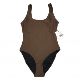 Onia Kelly One-Piece Swimsuit in Coffee Liqueur