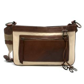 Dolce & Gabbana Canvas & Leather Shoulder Bag