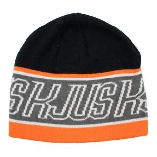 Kjus Black Orange Logo Beanie
