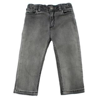 Bonpoint Grey Light Wash Soft Denim Baby Jeans