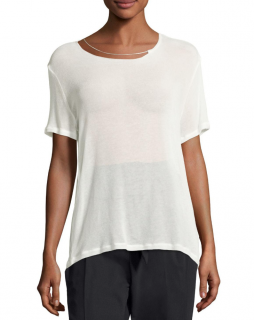 Iro Jeans Rikke Short-sleeve Jersey Top W/ Chain