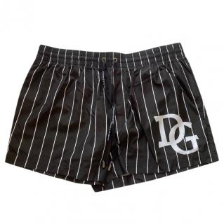 Dolce & Gabbana black and white swim shorts