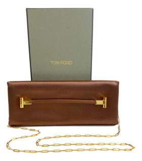 Tom Ford East West Satin Bronze Crossbody Bag