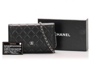 Chanel Matelasse Lambskin Leather Wallet On Chain
