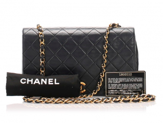 Chanel Quilted Lambskin Chain Shoulder Bag