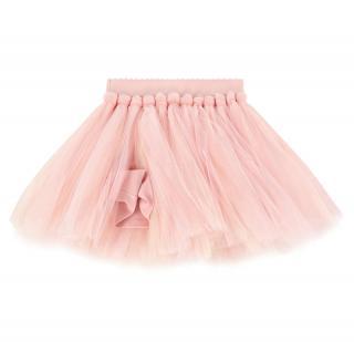 Monnalisa pink tulle skirt
