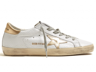 Golden Goose Snake Effect Super Star low-top leather trainers