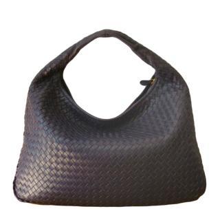 Bottega Veneta Purple Intrecciato Hobo Bag
