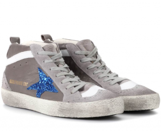 Golden Goose Ostrich Mid Superstar Sneakers