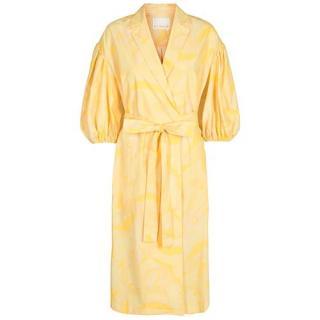 Remain Birger Christensen Yellow Wrap West Dress