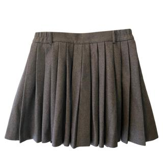 Red Valentino Pleated Wool Skirt