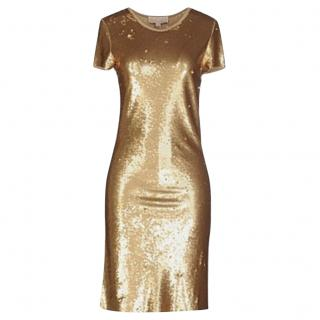 Michael Michael Kors Gold Sequin Dress