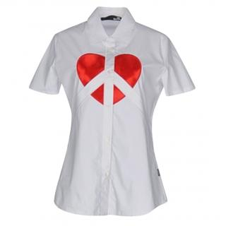 Love Moschino Heart Print Blouse