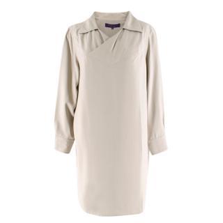 Ralph Lauren Purple Label Beige Silk Tunic Dress