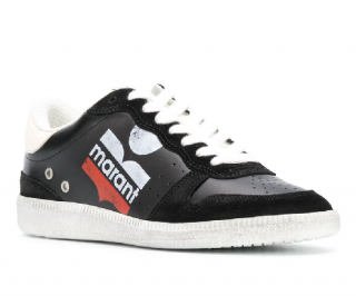 Isabel Marant Bulian Baskets Sneakers In Black Suede And Leather