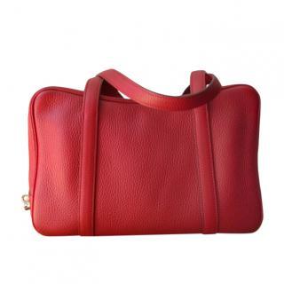 Moynat Madder Taurilllion Leather Limousine Bag