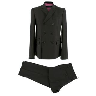 Dsquared� Black Pinstripe Double Breasted Asymmetric Suit