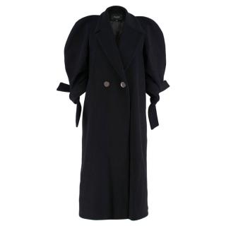 Paper London Black Wool Blend Long Coat