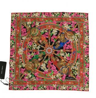 Dolce & Gabbana multi coloured print scarf
