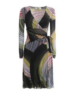 Diane Von Furstenberg Sathita Multicoloured Wrap Dress