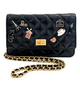 Chanel Black Limited Edition Lucky Charms Wallet On A Chain