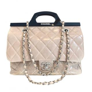 Chanel Glazed Pink Delivery Top Handle Bag