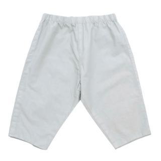 Bonpoint Light Blue Cotton Baby Trousers