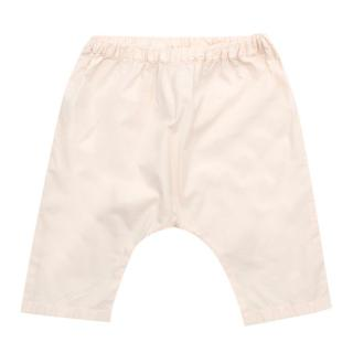 Bonpoint Pale Pink Harem Cotton Trousers