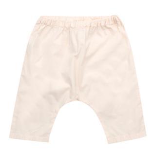 Bonpoint Pale Pink Harem Cotton Trousers