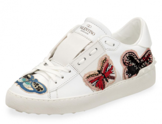 Valentino Garavani Open Butterfly-embroidered Trainers