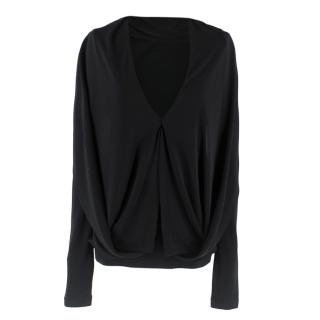 Roland Mouret Plunge Neck Long Sleeve Top