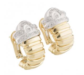 Bespoke Yellow Gold Diamond Earrings