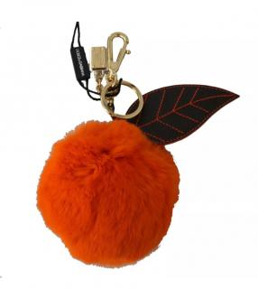 Dolce & Gabbana Orange Fur Keyring
